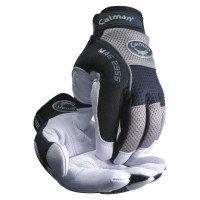 Caiman 2955-M White Goat Grain Leather Palm Gloves