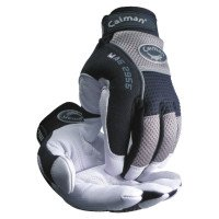 Caiman 2955-S White Goat Grain Leather Palm Gloves