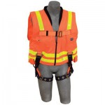Capital Safety 1107409 DBI-SALA Delta Vest Hi-Vis Reflective Workvest Harness with Tongue Buckle Leg Straps