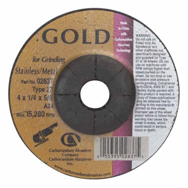 Carborundum 5539502837 Gold Aluminum Oxide