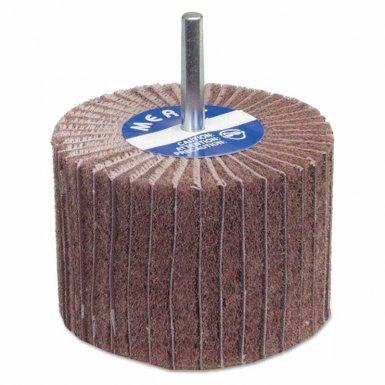 Carborundum 8834144458 Merit Abrasives Interleaf Flap Wheels with Mounted Steel Shank