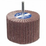Carborundum 8834144458 Merit Abrasives Interleaf Flap Wheels with Mounted Steel Shank