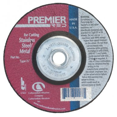 Carborundum 5539507176 Premier Red Zirconia Alumina