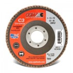 CGW Abrasives 42402 C3 Ceramic Flap Disc