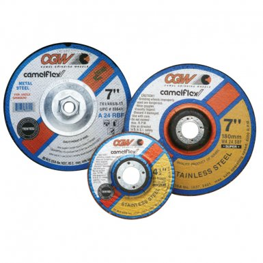 "CGW Abrasives 35620 Depressed Center Wheels- 1/4"" Grinding, Type 27"
