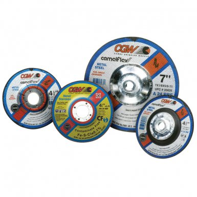 """CGW Abrasives 35635 Depressed Center Wheels-Cutting / Notching - 1/8"""""""