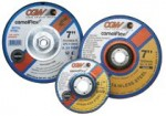 "CGW Abrasives 45082 Depressed Center Wheels- 1/4"" Grinding, Type 27"
