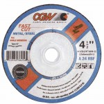 CGW Abrasives 36257 Fast Cut - Type 27 Depressed Center Wheels