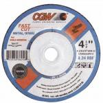 CGW Abrasives 36264 Fast Cut - Type 27 Depressed Center Wheels