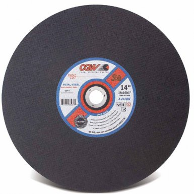 CGW Abrasives 70109 Fast Cut Type 1 Cut-Off Wheels, Stationary Saws