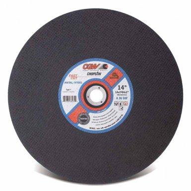 CGW Abrasives 70110 Fast Cut Type 1 Cut-Off Wheels, Chop saws