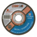 CGW Abrasives 42005 Quickie Cut Extra Thin Cut-Off Wheels, Type 27