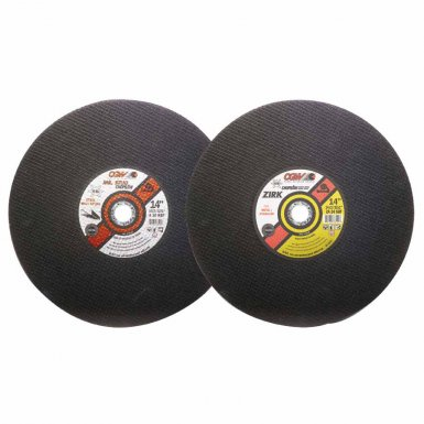 CGW Abrasives 36125 Type 1 Cut-Off Wheels, Chop Saws