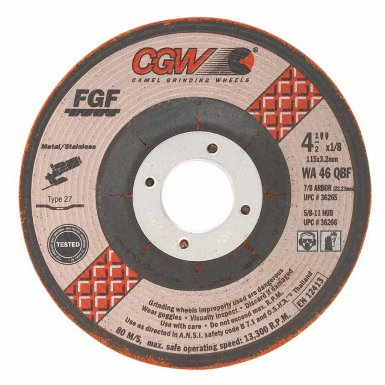 CGW Abrasives 36271 Type 29 Depressed Center Wheels - FGF Special Wheels