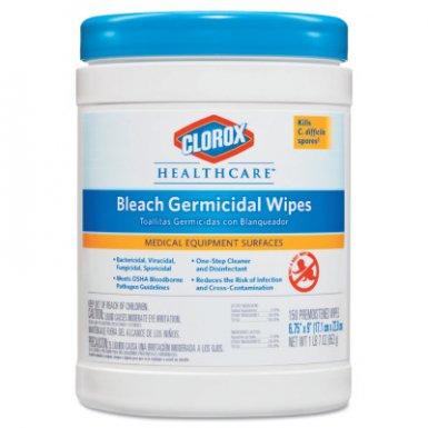 Clorox 30577 Healthcare Bleach Germicidal Wipes