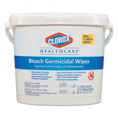 Clorox CLO30358CT Healthcare Bleach Germicidal Wipes