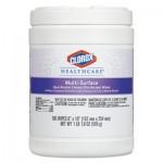 Clorox CLO31335 Healthcare Multi-Surface Quat Alcohol Cleaner Disinfectant Wipes