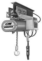 CM Columbus McKinnon 9318 Series 635 Lodestar Motor Driven Trolleys