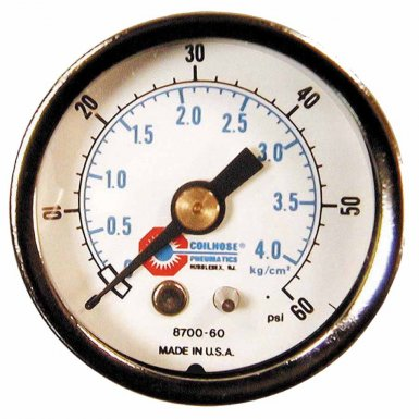 Coilhose Pneumatics 8700-60 Chrome Plated Gauges