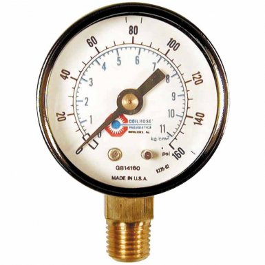 Coilhose Pneumatics GB17160 Chrome Plated Gauges