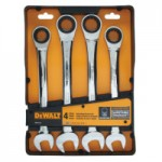 DeWalt DWMT74193 4 Piece Ratcheting Combo Wrench Set