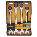 DeWalt DWMT74194 4 Piece Ratcheting Combo Wrench Set