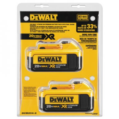 DeWalt DCB204-2 Battery Packs