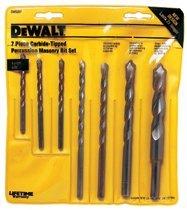 DeWalt DW5207 Carbide Hammer Drill Bit Sets