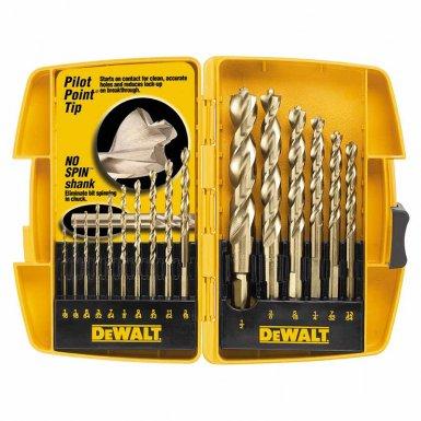 DeWalt DW1956 Pilot Point Gold Ferrous Oxide Drill Bit Sets
