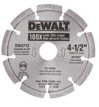 DeWalt DW4716 Segmented Rim Diamond Blades