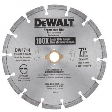 DeWalt DW4714T Segmented Rim Diamond Blades