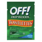 Diversey DRK CB549967 OFF! Deep Woods Insect Repellent Towellettes