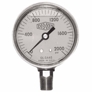 Dixon Valve GLBR2000-4 Brass Liquid Filled Gauges