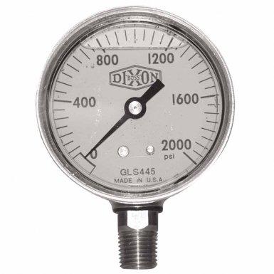 Dixon Valve GLBR5000-4 Brass Liquid Filled Gauges