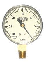 Dixon Valve GL105 Vacuum Gauges