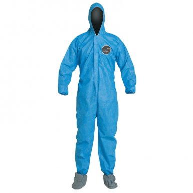 DuPont PB122SBU4X002500 Proshield 10 Coveralls Blue with Attached Hood and Boots