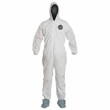 DuPont PB122SWH3X002500 Proshield 10 Coveralls White with Attached Hood and Boots
