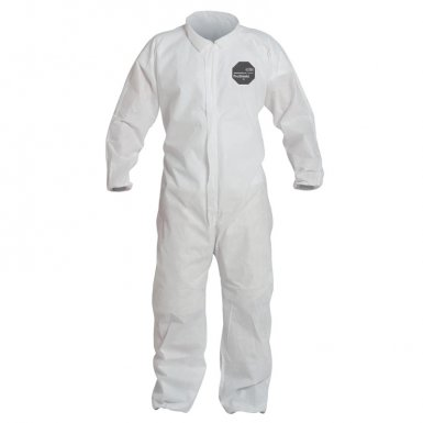 DuPont PB125SWH3X002500 Proshield 10 Coveralls White with Elastic Wrists and Ankles