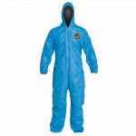 DuPont PB127SBU4X002500 Proshield 10 Coveralls Blue with Attached Hood