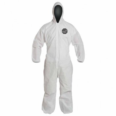 DuPont PB127SWH4X002500 Proshield 10 Coveralls White with Attached Hood