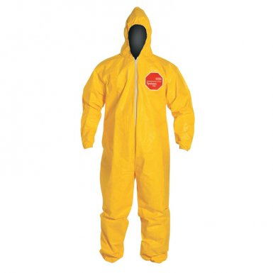 DuPont QC127SYL3X001200 Tychem QC Coveralls with attached Hood