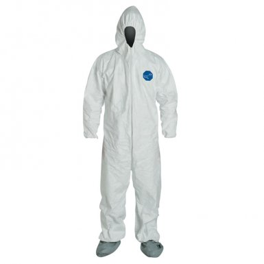 DuPont TY122SWH2X002500 Tyvek Coveralls with Attached Hood and Boots