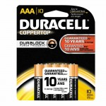 Duracell 4133317064 CopperTop Alkaline Batteries with DuraLock Power Preserve Technology
