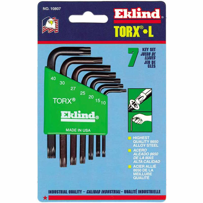 Eklind Tool Torx L-Key Sets - Eklind Tool 269-10807 - Eklind Tool Torx