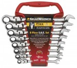 GearWrench 9701 8 Pc. Flexible Combination Ratcheting Wrench Sets