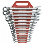 GearWrench 9509N Reversible Combination Ratcheting Wrench Sets
