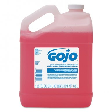 Gojo 1847-04 Pink Antimicrobial Lotion Soaps