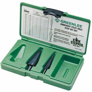 Greenlee 3607 Kwik Stepper Step Bit Kits