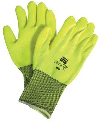 Honeywell NF11HVY/9L North NorthFlex Neon Hi-Viz PVC Palm Coated Gloves