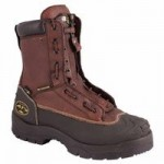 Honeywell 65392-TN100 Oliver by  Lace-In Quick Release Zipper Closure Chemical Resistant Leather Work Boots
